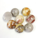 Gemstone Cabochon - Round 10MM MEXICAN CRAZY LACE