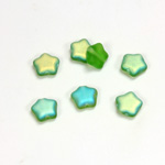 Czech Pressed Glass Bead - Star 08MM MATTE OLIVINE AB
