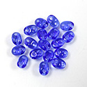 Preciosa Czech Pressed Glass 2-Hole Bead -Twin Oval 02.5x5MM SAPPHIRE