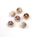 Preciosa Czech Glass Fire Polish Bead - Hill 06MM CRYSTAL/AMBER