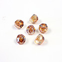 Preciosa Czech Glass Fire Polish Bead - Hill 06MM CRYSTAL/PUMPKIN