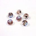 Preciosa Czech Glass Fire Polish Bead - Hill 06MM CRYSTAL/GOSSAMER