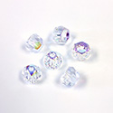 Preciosa Czech Glass Fire Polish Bead - Hill 06MM CRYSTAL AB