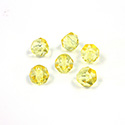 Preciosa Czech Glass Fire Polish Bead - Hill 06MM YELLOW