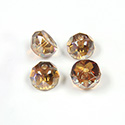 Preciosa Czech Glass Fire Polish Bead - Hill 08MM CRYSTAL/AMBER
