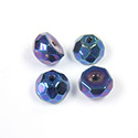 Preciosa Czech Glass Fire Polish Bead - Hill 08MM IRIS BLUE