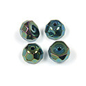 Preciosa Czech Glass Fire Polish Bead - Hill 08MM IRIS GREEN