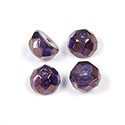 Preciosa Czech Glass Fire Polish Bead - Hill 08MM LUMI PURPLE