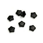 Czech Pressed Glass Bead - Star 08MM MATTE JET