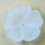 German Plastic Flower with Center Hole - Round 35MM MATTE CRYSTAL