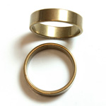 Brass Finger Ring Size 6 - 0.191 inch Round