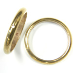 Brass Bead Frames - Rings Side Drilled 2-Holes 20MM