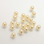 Plastic Pearl No-Hole Ball 05MM CREME