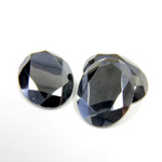 Gemstone Flat Back Stone with Faceted Top and Table - Oval 16x12MM HEMATITE