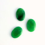 German Plastic Flat Back Buff Top Cabochon - Oval 14x10MM JADE MATRIX