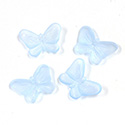 German Plastic Butterfly with Center Hole - 16x12MM MATTE LT SAPPHIRE