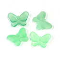 German Plastic Butterfly with Center Hole - 16x12MM MATTE PERIDOT