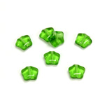 Czech Pressed Glass Bead - Star 08MM OLIVINE