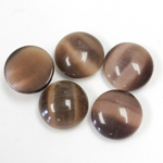 Fiber-Optic Cabochon - Round 13MM CAT'S EYE BROWN