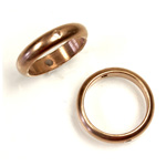 Brass Bead Frames - Rings Side Drilled 2-Holes 13MM