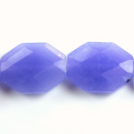Gemstone Bead - Faceted Octagon 25x20MM Dyed QUARTZ Col. 16 PURPLE