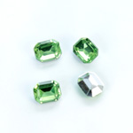 Plastic Point Back Foiled Stone - Cushion Octagon 10x8MM PERIDOT