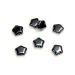 Czech Pressed Glass Bead - Star 08MM HEMATITE