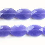 Gemstone Bead - Faceted Octagon 18x13MM Dyed QUARTZ Col. 16 PURPLE