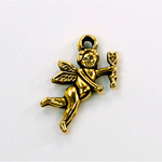 Metalized Plastic Pendant- Cupid 24x15MM ANT GOLD