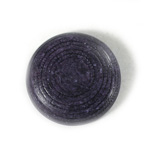 Plastic Flat Back Engraved Cabochon - Round 29MM INDOCHINE NAVY