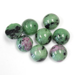 Gemstone Cabochon - Round 10MM ZOISITE RUBY