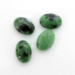 Gemstone Cabochon - Oval 14x10MM ZOISITE RUBY
