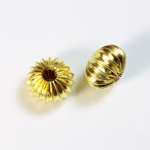 Brass Corrugated Bead - Standard Rondelle 12x8MM RAW