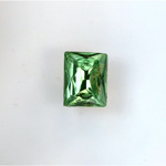 Glass Point Back Foiled Tin Table Cut (TTC) Stone - Cushion 10x8MM PERIDOT