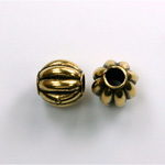 Metalized Plastic Bead - Melon Round 10MM ANT GOLD