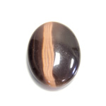 Fiber-Optic Cabochon - Oval 30x22MM CAT'S EYE BROWN