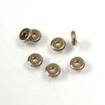 Brass Bead - Lead Safe Machine Made Smooth Flat Spacer 04MM RAW BRASS
