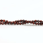 Gemstone Bead - Faceted Round 04MM TIGEREYE RED