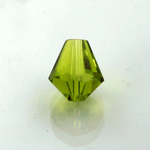 Chinese Cut Crystal Bead - Cone 06x5MM OLIVINE