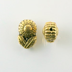Metalized Plastic Bead - Daisy 16x11MM ANTIQUE GOLD