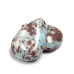 Synthetic Cabochon - Pear 25x18MM MULTI COLOR Matrix SX07 BROWN-TURQUOISE