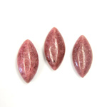 Gemstone Cabochon - Navette 20x10MM RHODONITE