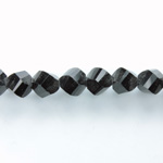 Indian Cut Crystal Bead - Helix Twisted 08MM JET