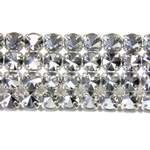 Preciosa Metal Spike Banding 4 Row - Round 19SS COMET ARGENT LIGHT/SIVER