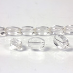 Glass Bead Table Polished - Oval 09x6MM CRYSTAL