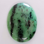 Gemstone Cabochon - Oval 40x30MM ZOISITE RUBY