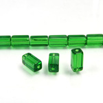 Glass Bead Table Polished - 08x4MM EMERALD