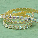 Rhinestone Banding with Brilliant 2-Cut Chaton Rose 1 Row - Round 20SS CRYSTAL AB-GOLD-WHITE