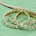 Rhinestone Banding with Brilliant 2-Cut Chaton Rose 1 Row - Round 20SS CRYSTAL AB-RAW-WHITE