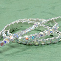 Rhinestone Banding with Brilliant 2-Cut Chaton Rose 1 Row - Round 20SS CRYSTAL AB-SILVER-WHITE
